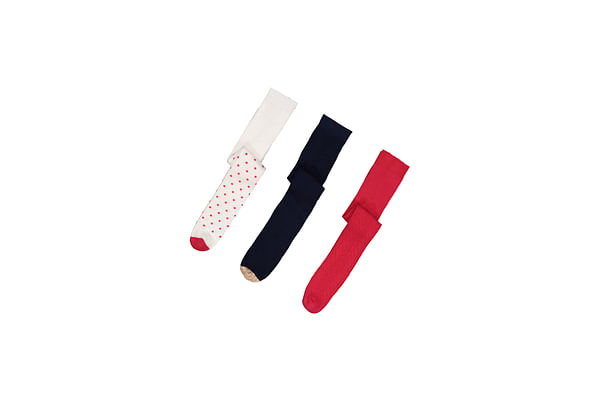 Girls Fashion Tights - 3 Pack - Multicolor