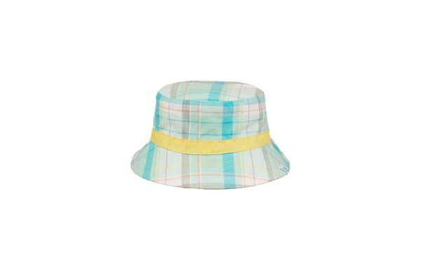 Boys Check Sun Hat - Green