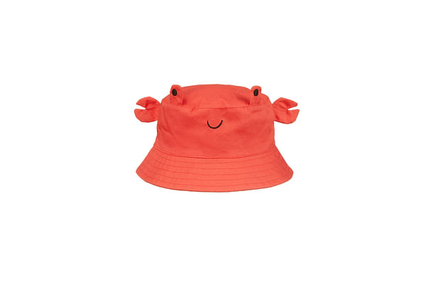 Boys Woven Crab Hat - Red