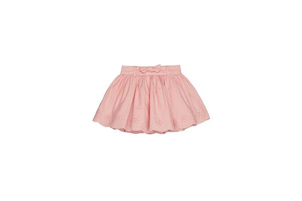 Girls Broderie Skirt - Pink