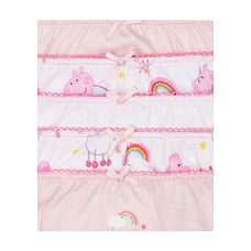 Girls Peppa Pig Briefs - 5 Pack - Pink