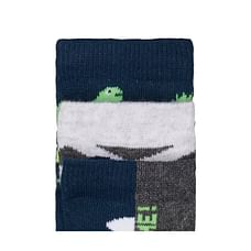 Boys Dino And Star Socks - 3 Pack - Multicolor