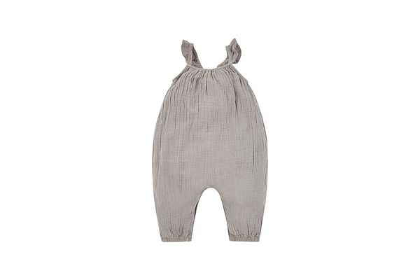 Girls Woven Jumpsuit - Charcoal