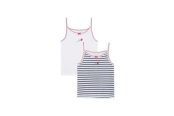 Girls Ladybird Cami Vests - 2 Pack - Multicolor