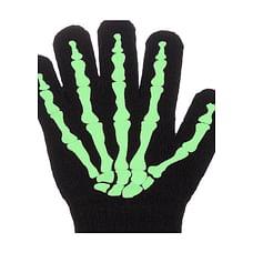 Boys Skeleton Magic Gloves - Black