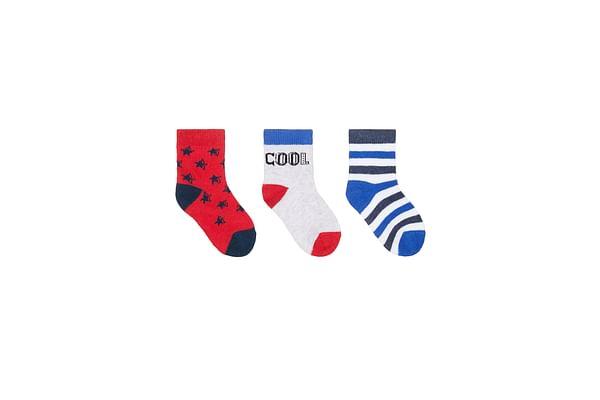 Boys Cool Socks - 3 Pack - Multicolor