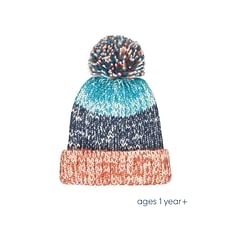 Boys Striped Knitted Beanie Hat - Multicolor