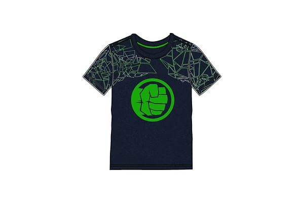 Kidsville Boys Half sleeves Round neck tee Hulk-Navy