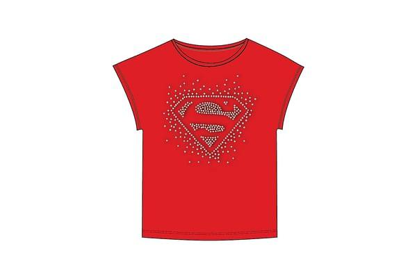 Kidsville Girls Half sleeves Round neck tee -Red