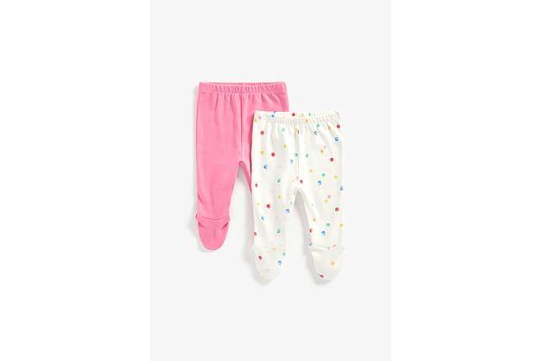 Girls Leggings Spot Print - Pack Of 2 - Multicolor