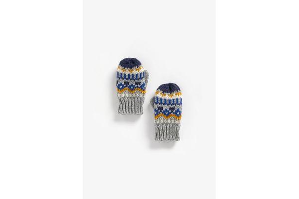 Boys Gloves Fair Isle Design - Multicolor