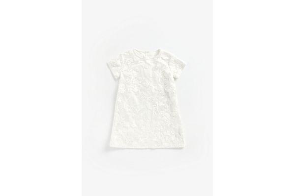 Girls Hal Sleeves Party Dress Embellished - Silver