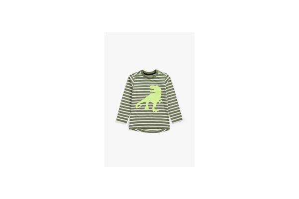Boys Full Sleeves T-Shirt Dino Reversible-Sequin Design - Multicolor