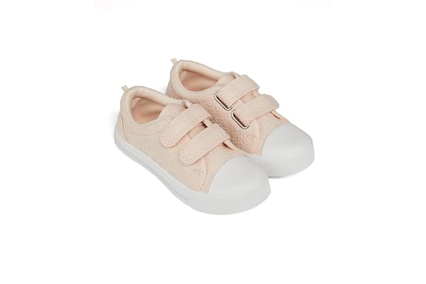 Girls Canvas Shoes Embroidered - Pink