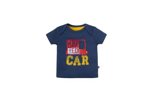Boys Big Car T-Shirt - Navy