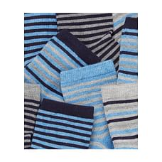 Blue And Black Stripy Socks With Aegis - 5 Pack