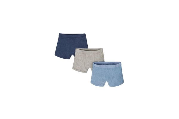 Navy, Blue And Grey Marl Briefs - 3 Pack