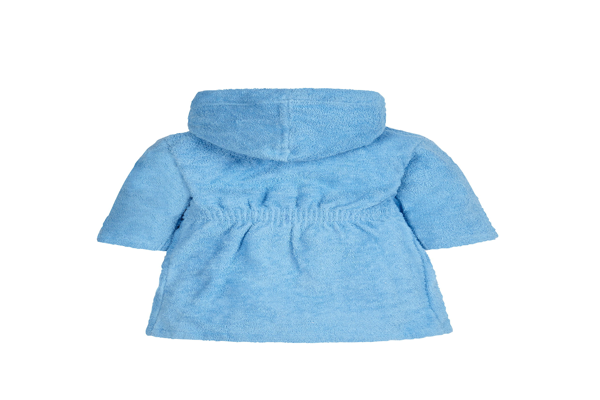 Boys Full Sleeves Bath Robe Hooded - Blue