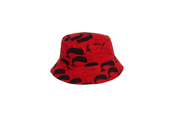 Red Whale Fisherman'S Hat
