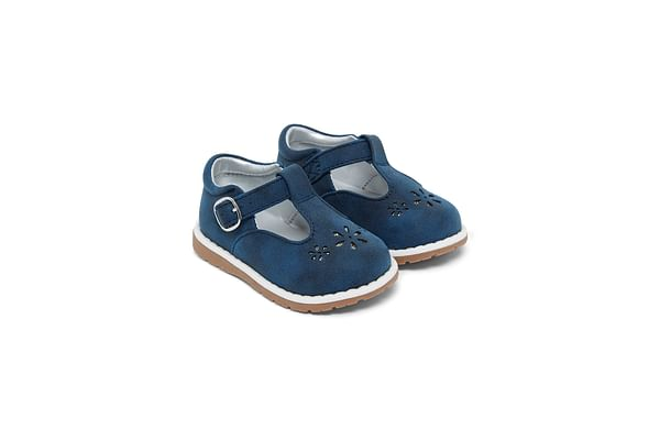 First Walkers Navy T-Bar Shoes