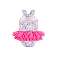Neon Ditsy Floral Tutu Swimsuit