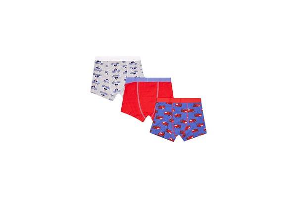 Boy Trunk Briefs Printed Multi 3 Pack