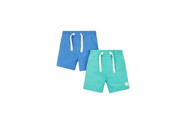 Green And Blue Jersey Shorts - 2 Pack