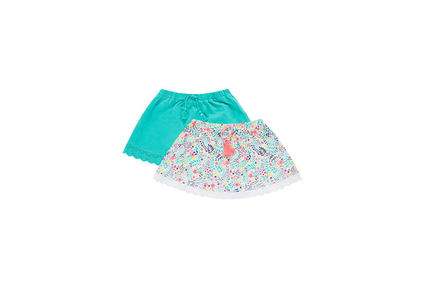 Neon Floral Skirt - 2 Pack