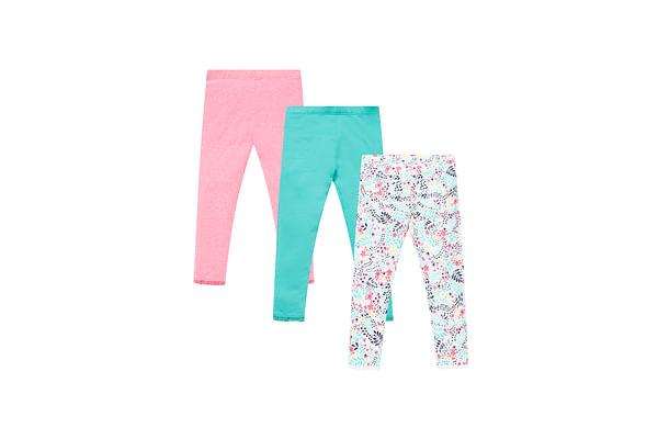 Neon Floral Cropped Leggings - 3 Pack