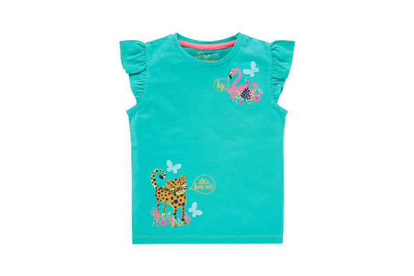 Turquoise Tiger And Flamingo T-Shirt