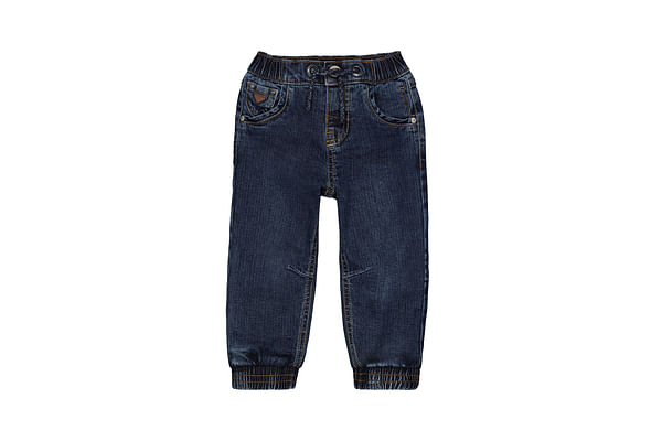 Boys Jogger Textured Washed Jeans - Blue