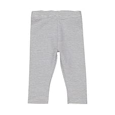 Girls Leggings Stripe With Elasticated Waistband - Navy