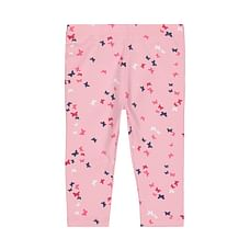 Girls Legging Butterfly With Elasticated Waistband - Pink