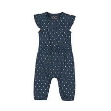 Girls Sleeveless Jumpsuit Floral - Navy