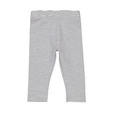 Girls Striped Leggings - Navy