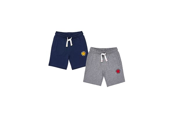 Boys Jersey Shorts - Pack Of 2 - Multicolor