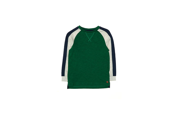 Green Contrast Sleeve T-Shirt