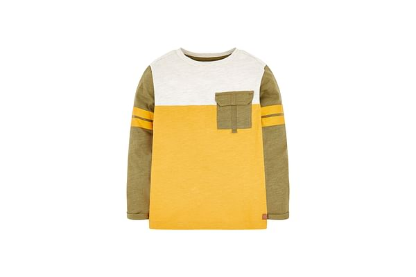 Green And Yellow Cut And Sew T-Shirt