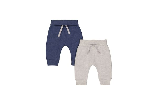 Boys Joggers - Pack Of 2 - Grey Navy