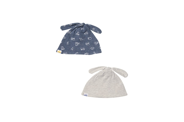 Grey Stripe Hats - 2 Pack