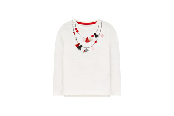 White Necklace T-Shirt