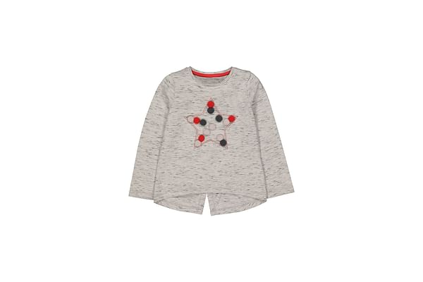 Grey Star Pompom T-Shirt