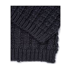 Navy Knitted Scarf
