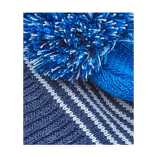 Blue Stripe Fairisle Knitted Beanie