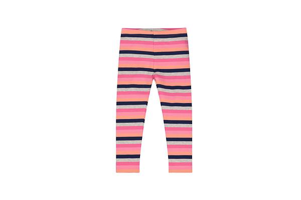 Girls Colorful Striped Leggings - Multicolor