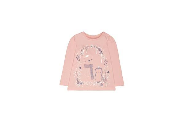 Pink Penguin And Polar Bear T-Shirt