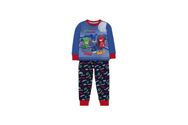 Boys Full Sleeves Pyjamas Pj Masks Print - Blue