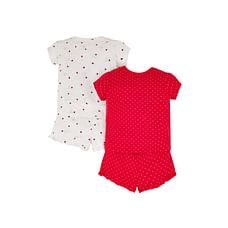 Girls Shorts Set Lady Lady Bird Print - Pack Of 2 - Red