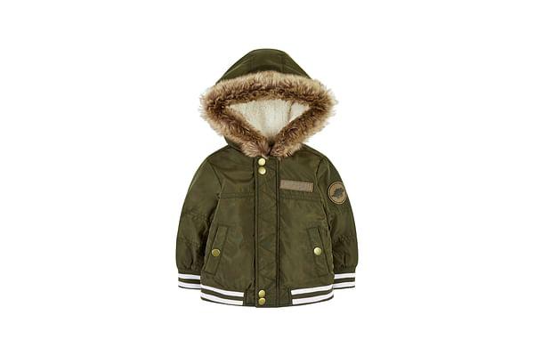 Khaki Fleece-Lined Bomber Jacket