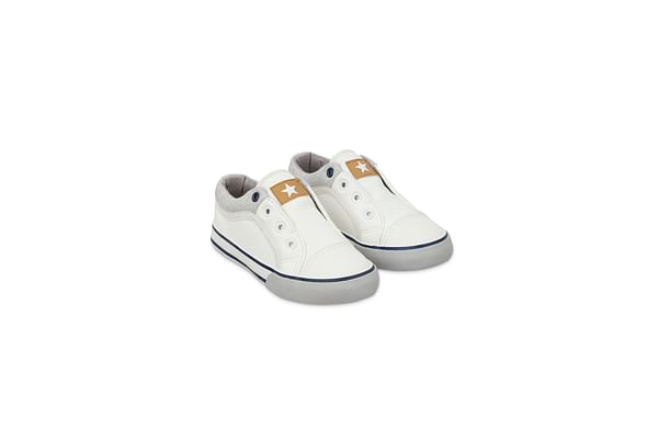 White Laceless Trainers